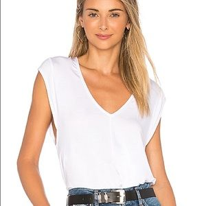 Free People White V Tees for my Jeans Bodysuit